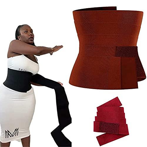 lingyagaofeng Snatch Me Up Bandage Wrap - 3M, Invisible Wrap Waist Trainer Tape, Adjustable Comfortable Back Brace, Corset Trimmer Body Shaper Belt for Women Plus Size