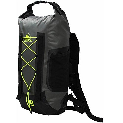 Cox Swain 25L super Leichter wasserdichter Outdoor Rucksack Packsack für Fahrrad, Wassersport etc, Colour: Grey