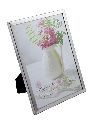 Azzure Home Silver Electroplated Metal Picture Frame 5x7 Silver