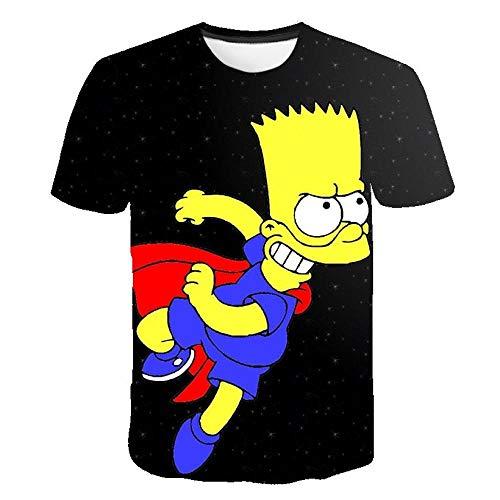 chuyue Camiseta con Estampado de Verano, Personaje de Anime, Moda, Personalidad para Hombres, Ropa de Calle 3D, Hip Hop-S