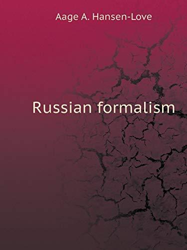 Russian formalism (Russian Edition)