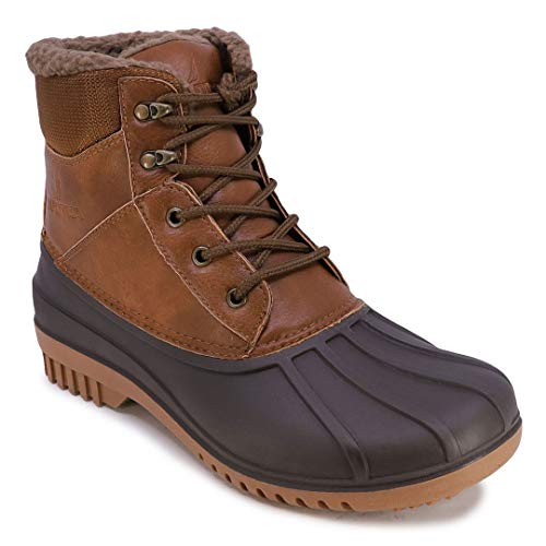 Nautica Mens Duck Boots - Waterproof Shell With Faux Fur Insulated Snow Boot - Arno-Tan-10