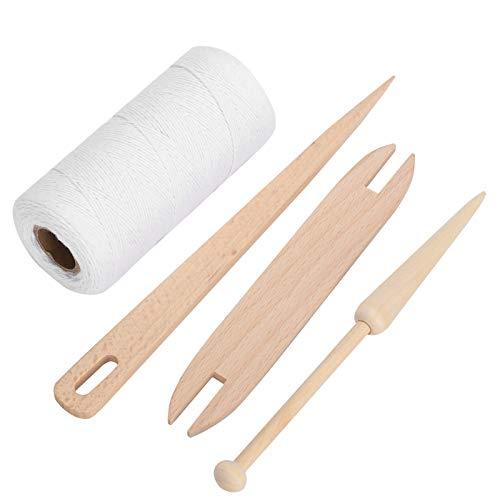 Okuyonic Telar de urdimbre, cómodo Hilado de algodón Suave para alfombras para Tejer a Mano