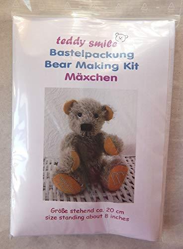 teddy smile - Bastelpackung MÄXCHEN für die traditionelle Fertigung eines Teddy - Bären; 20 cm