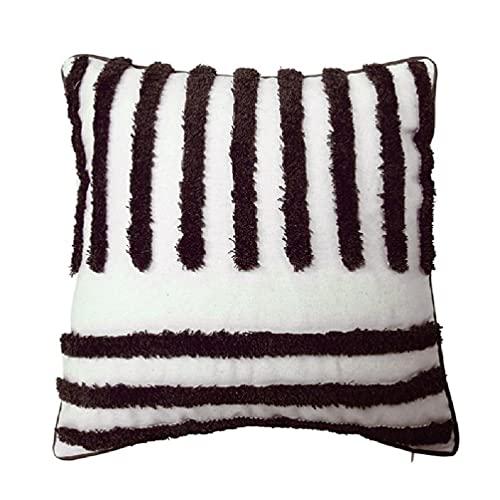 Funda de almohada de estilo moderno nórdico, diseño tribal bohemio, geométrica, de rayas irregulares, funda de cojín decorativa para sofá, cama, coche, funda de almohada tejida