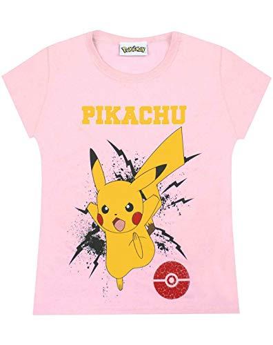 Pokèmon Camiseta niñas, Pikachu Bolt, para niños, Rosa 11-12 años