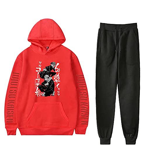 Yuhuaouzhou Jujutsu-Conjunto de Sudadera y Pantalones con Capucha para Hombre y Mujer, chándal de Moda, Jujutsu, Kaisen, Novedad de Invierno, 2 Piezas