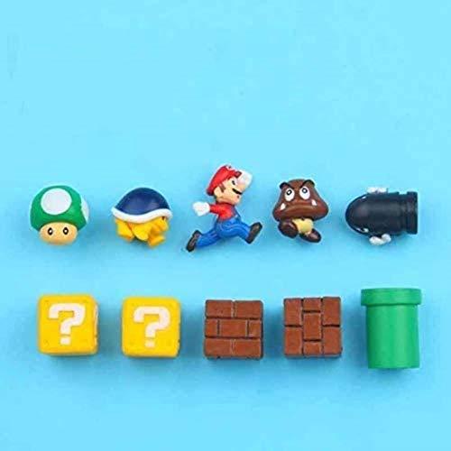 ZP-MIN 63 imanes 3D de Super Mario Bros. Pegatinas para nevera, con mensaje de Luigi, niñas, niños, niños, estudiantes, regalo de cumpleaños, 18 combinaciones, 10 combinaciones