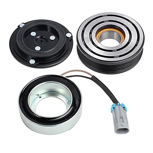 Shutters Acoplamiento magnético del compresor de Aire Acondicionado 24432392 Ajuste para Delphi Opel CVC Apto para Astra Zafira A B 5PK 105MM Embrague magnético