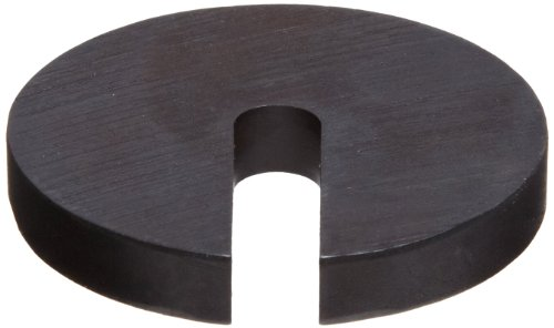 12L14 Carbon Steel Slotted Washer, Black Oxide Finish, #6 Hole Size, 0.406