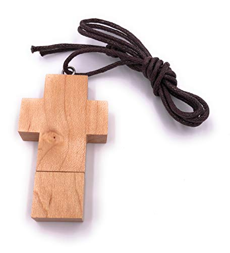 H-Customs Holz Kreuz USB Stick 32 GB Speicher USB 2.0