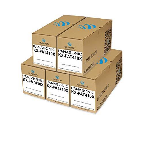 5X KXFAT410X, KX-FAT410X Toner negro regenerado Duston compatible con impresoras Panasonic KXMB1500 1508 1510 1520 1518 1528 1530 1536 1538