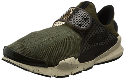 Nike Herren Sock Dart Low-Top, Grün (Cargo Khaki/Black-Rattan-Total Crimson), 45 EU