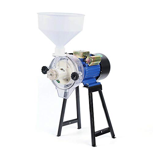 140 Type Refiner Copper Wire Machine (Us Plug 110V), Electric Grinder Wheat Rice Corn Mill Universal Powder Scrusher Wet Flour Machine Feed Soymilk Cereal Grain Dry Cereals Oats Best Coffee with Funnel
