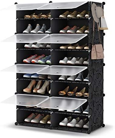 Shoe Rack 8 Tier Shoe Storage Cabinet 32 Pair Plastic Shoe Shelves Organizer for Closet Hallway product image