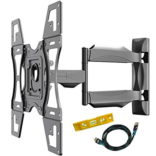 Invision TV Wandhalterung, Ultrastarker Schwenkbare Neigbare, TV Halterung für 26-60 Zoll Flache und Geschwungen Fernseher oder Monitore, Max Gewichtskapazität 40 kg, Max. VESA 400x400 mm (VAT62)