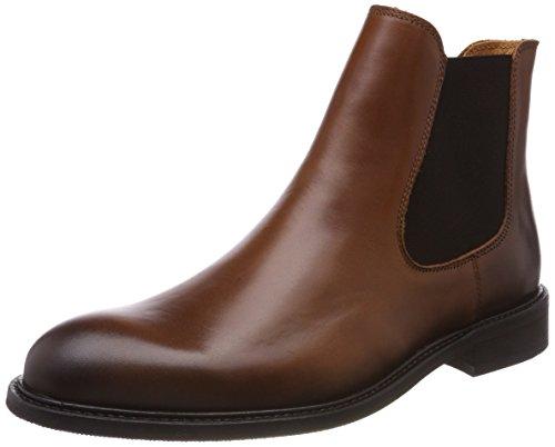 Selected Herren SHDBAXTER Leather NOOS Chelsea Boots, Braun (Cognac), 40 EU