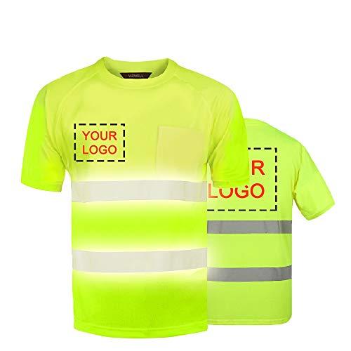 Camiseta reflectante de seguridad de alta visibilidad, camisetas personalizadas con impresión frontal y trasera, ideal para regalos, ropa de trabajo, uniforme y eventos