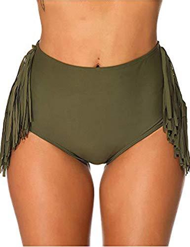FeelinGirl Damen UV Schutz Wassersport Schwimmen Bikinihose Badeshorts Schwimmshorts Boardshorts M Grün