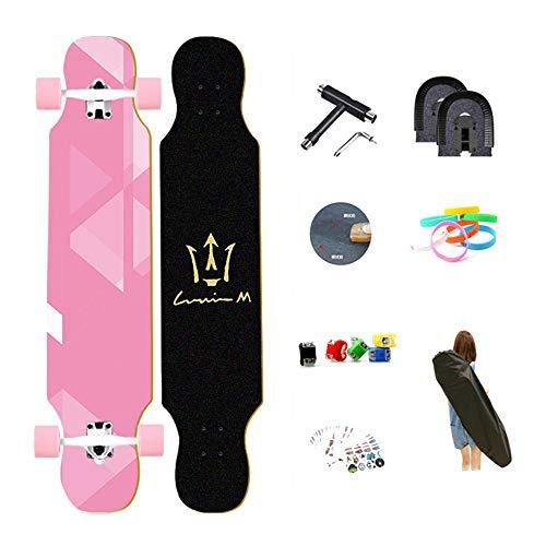 WYJJ 107 * 25cm Tabla De Skate Papel De Lija Skateboarding Scooter Cruiser Cinta De Agarre Longboard Etiqueta De Cubierta Papel Abrasivo Monopatín Estándar Niños Niñas Jóvenes Adultos