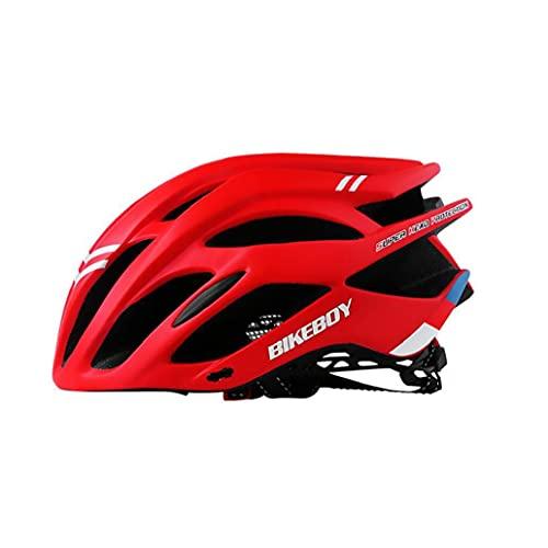 Fahrradhelm, Einstellbare Specialized Mountain Road Fahrradhelm F¨¹r M?nner Frauen Super Light Fahrradhelm Erwachsene Fahrradhelm Rucksack Mit Abnehmbarem Visier Rot