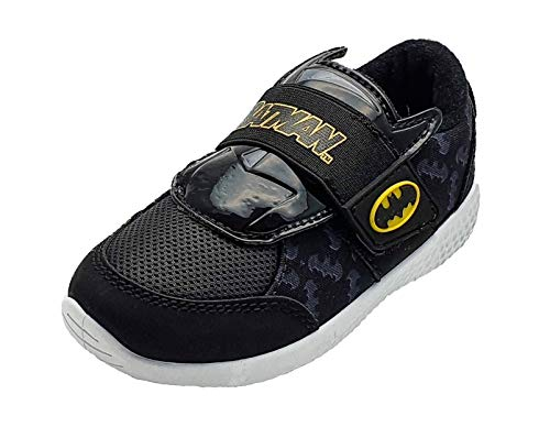 Batman Jungen Sneaker mit Klettverschluss, Schwarz - Schwarz  - Größe: 30 EU