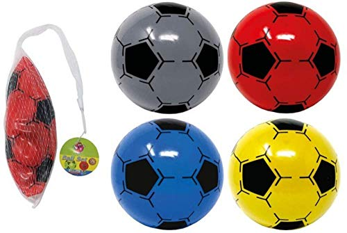 Party Bags 2 Go Lot de 4 ballons de football en PVC Non gonflés Ø22,5cm