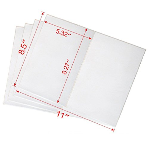 Shipping Labels with Rounded Corner, 8.5 x 5.5 Inches Half Sheet Self Adhesive Shipping Address Labels for Laser and Inkjet Printer, 200 Labels Photo #2