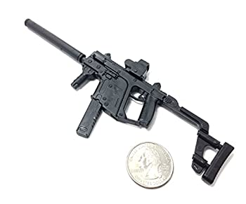 4D 1/6 Scale Kriss Vector Submachine Gun US Army Miniature Toy Guns Model Fit for 12  Action Figure