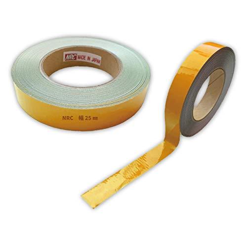 コンクリート用反射テープ 幅25mm×長さ1M〜10Mまで カット販売可能 プライマー不要! (長さ2M, 黄)