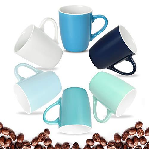 Coffee Mugs Set of 6 16 Ounce Ceramic Coffee Mugs Set of 6 Restaurant Coffee Mugs Cool Assorted Colors Coffee Mugs Colorful Coffee Mugs for Coffee or Tea