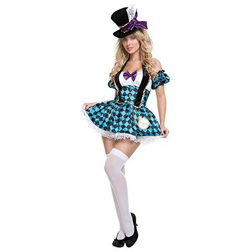NO BRAND PÚRPURA Uniformes Disfraces de Halloween Alice Sombrero Loco