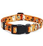 W&Z Halloween Dog Collars - Adjustable Heavy Duty Soft Ethnic Style Collar for...