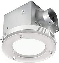 Tosca 7117-02-BN Bathroom Fan Integrated LED Light Ceiling Mount Exhaust Ventilation 1.5 Sones 80 CFM, Frosted Glass