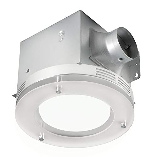 Tosca 7117-02-BN Bathroom Fan Integrated LED Light Ceiling Mount Exhaust Ventilation 1.5 Sones 80...