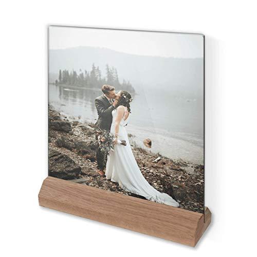 Glasfoto - Individuelles Glasbild | Fotogeschenk mit persönlichem Motiv in Farbe mit Holzsockel