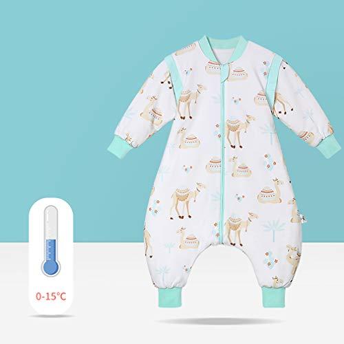 LYNNDRE Langärmelig Babys Können Taschen/Decke Schlafen, Und Dicke Kinderbeintaschen Verbessern Deutlich Schlaf Tragen Und Babys Ruhig Halten,D,M
