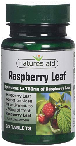 Natures Aid Raspberry Leaf, High Potency, Equivalent to 750 mg Dried Raspberry Leaf, Vegan, 60 Tablets