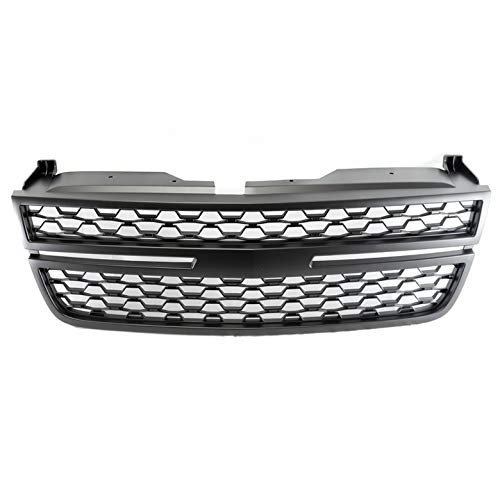 ZMAUTOPARTS Mesh Style Front Upper Hood Grille Grill Matte Black For 2003-2006 Chevy Silverado/Avalanche