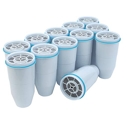 ZeroWater Replacement Filters 12-Pack BPA-Free Replacement Water Filters for ZeroWater Pitchers and Dispensers NSF Certified to Reduce Lead and Other Heavy Metals
