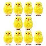 ABOOFAN 36 mini pulcini pasquali in ciniglia di Pasqua pasqua, riempitivi per feste di Pasqua, caccia al tesoro, buste per sacchetti