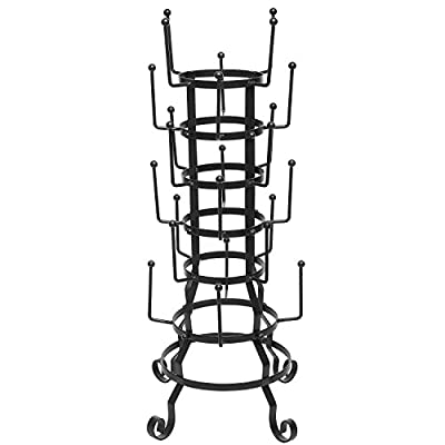 MyGift Vintage Iron Mug/Glass/Cup/Bottle Hanger Hooks Drying Rack Organizer Stand from MyGift