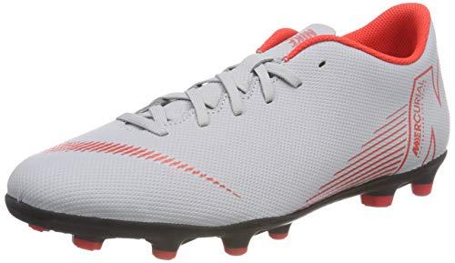 Nike Unisex-Erwachsene Vapor 12 Club FG/MG Sneakers, Mehrfarbig (Wolf Grey/Lt Crimson/Black 060), 44.5 EU