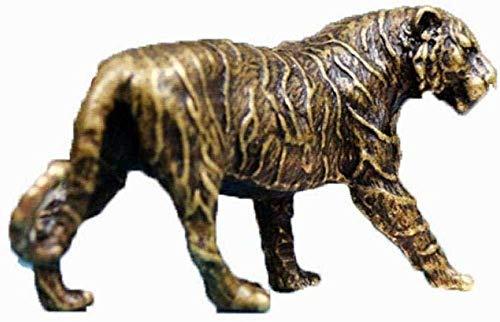 Estatuas para jardín Figuras de colección Adornos Estatuas Esculturas Retro Cobre Puro Latón Adornos de Tigre sólido Creativo Decoración de Escritorio Manualidades