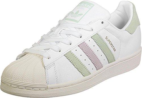 adidas Superstar W, Scarpe da Ginnastica Basse Donna, Bianco Ftwwht/Powred, 38 EU