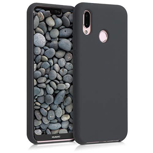 kwmobile Hülle kompatibel mit Huawei P20 Lite - Handyhülle gummiert - Handy Hülle in Schwarz matt