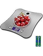 Köksvägningsvåg digital, adoric matlagningsvåg rostfritt premium stål större plattform kan hängas på väggen SILVER
