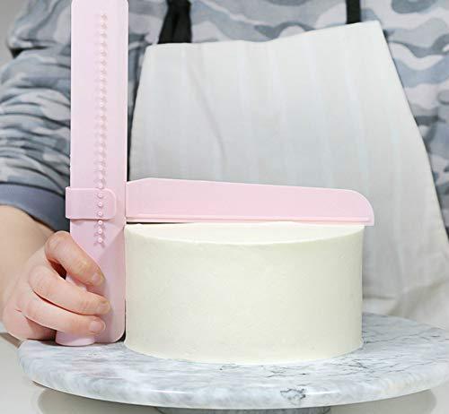 Herramienta De Pastel De Cocina Pastel De Pasta De Azúcar del Raspador Ajustable Espátulas Pastel De Crema Decoración para Hornear Vajilla