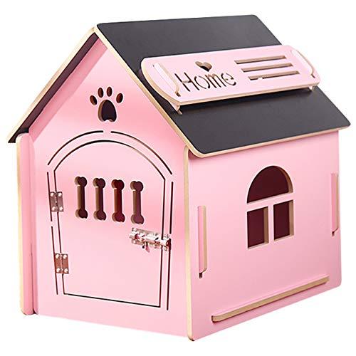 thematys Casetta per Cani in Legno I Casetta per Cani da Interno I Posto Letto per Animali Domestici I Idrorepellente e Stabile I Varie Misure e Colori (S (41 x 38 x 45cm), Style 4)