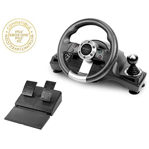 Subsonic - Drive Pro Sport - Volante da corsa con leva del cambio e pedali per Playstation 4 - Xbox One PS4 Slim - PS4 Pro - PS3